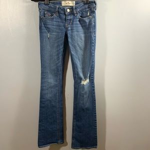 HOLLISTER | Bootcut Distressed Jeans | Sz 24x33